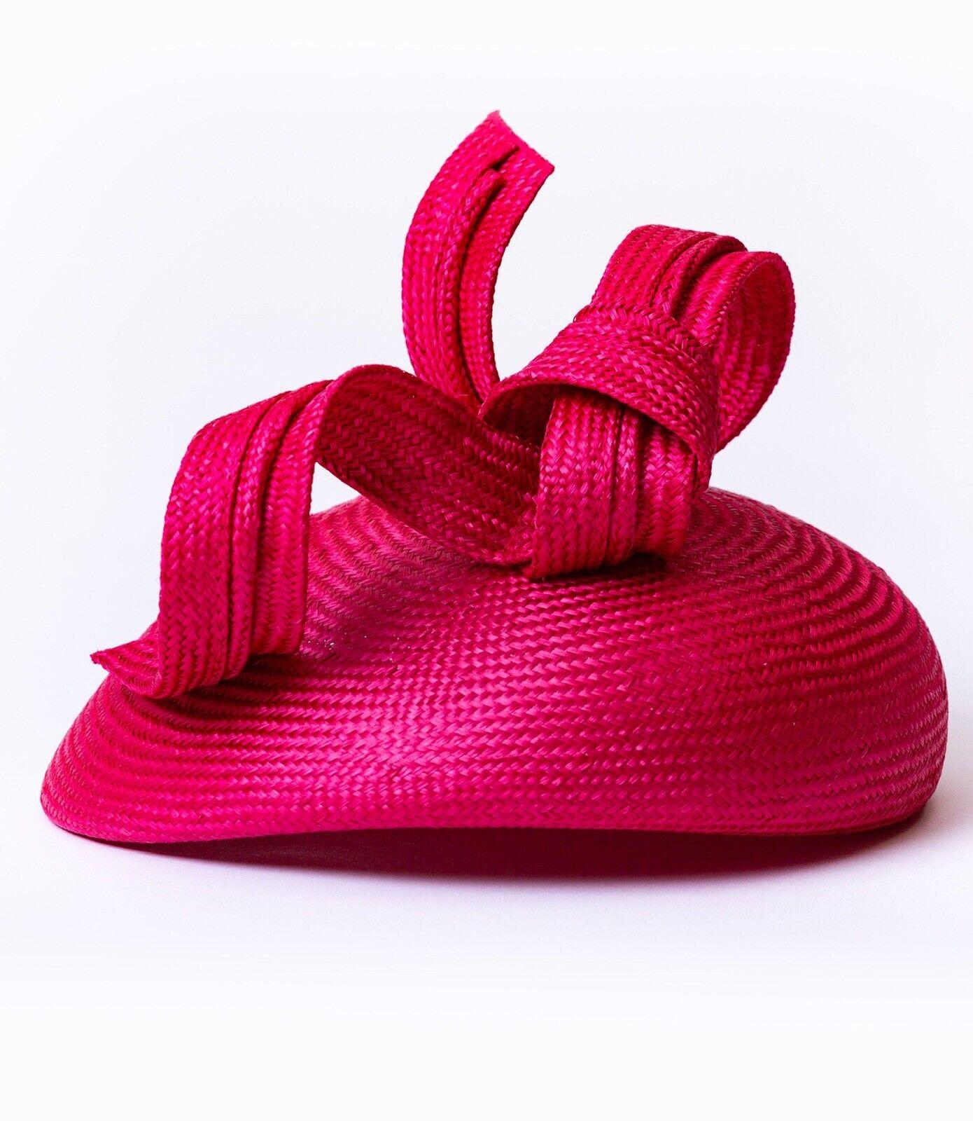 Whiteley Hat Swirl Pillbox Hat Crimson Red Bnwt
