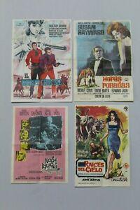 Anciens Livrets Pour Cinéma, Brochure Ou Programmes Main, Années 1964-65. 4 UD