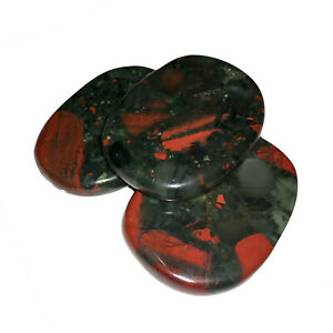 Natural Bloodstone Jasper Palm Stone Rock Crystal Healing Reiki Polished Worry S