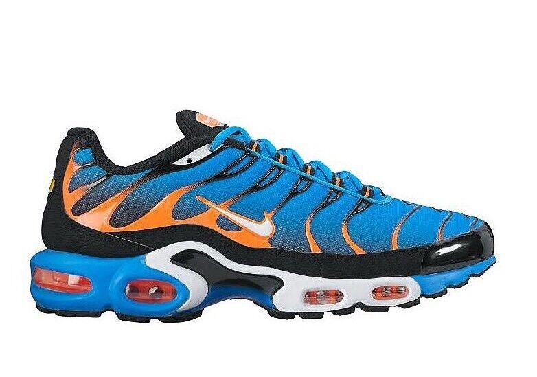 Nike Air Max Plus tnair 852630-400 Foto Blu Bianco Arancione EU 42   8.5