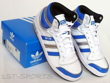 ADIDAS ORIGINALS JUNIORS TRAINERS, SHOES, TOP TEN HI UK 4 WHITE
