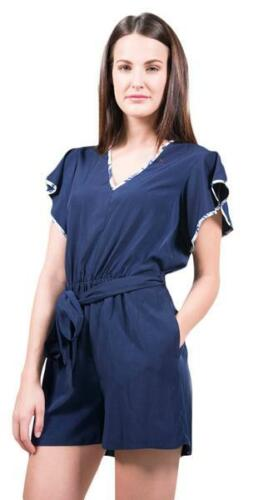 Size 295 shoshanna 2 Navy Nwt Retail Romper pzxUwP