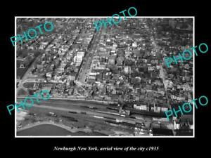 OLD-LARGE-HISTORIC-PHOTO-OF-NEWBURGH-NEW-YORK-AERIAL-VIEW-OF-CITY-c1935