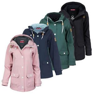 Details zu Derbe Damen Softshell Jacke Peninsula Mantel Parka Kapuze Übergangsjacke Outdoor