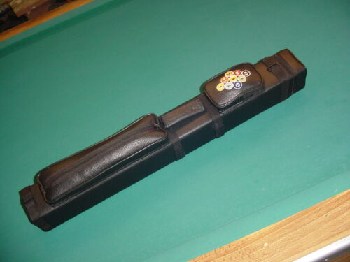 BEAUTIFUL EMBROIDERED BLACK 3x6 CUE CASE SAVE $$ pool billiards A014-2265-15