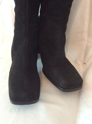 Size Knee Black Boots High 37 Oasis Suede gwpnx1xd