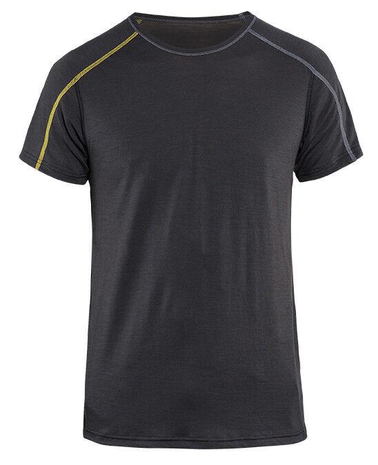 Blaklader X-Light Merino T-Shirt Dunkelgrau Gelb   Garantiere Qualität und Quantität