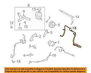 Power Steering Return Hose 44410-48030 For Lexus RX300 1999-2003