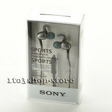 Sony MDR-AS800AP Waterproof In-Ear Sports Headphones Headset w/Mic Remote BLACK