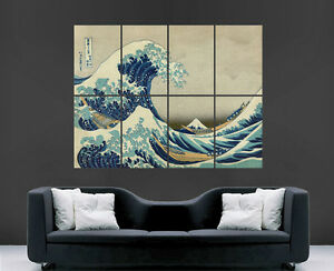 Image Is Loading THE GREAT WAVE OFF KANAGAWA POSTER JAPANESE WALL