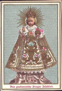 Prag-Jesus-Nino-Cuadro-Santos-Amria-Imagen-Milagrosa-Bohemia-Koloriert-B-6662