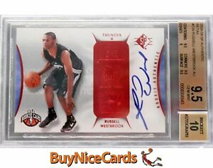2008-09 Russell Westbrook SP Authentic Retail RC Rookie Auto /10? BGS 9.5 / 10
