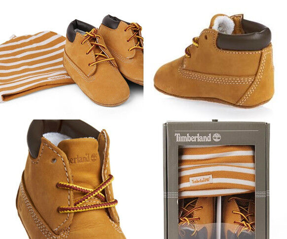 34a730dece8 Timberland Infant Crib BOOTIES and Hat Wheat Infants Shoes - 9589r M UK 1.5