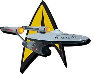 Star-Trek-Badge-Enterprise-chunky-thick-fridge-magnet-nm