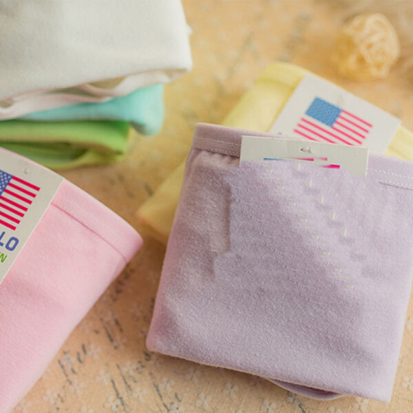 6x Damen Slips BAUMWOLLE Pants UNTERWÄSCHE Hotpants Panties Unterhosen Unifarben