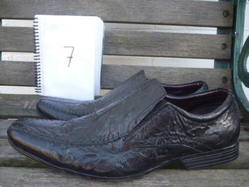 Uk Chaussures Conti En Taille Claudio Hommes Cuir Slip Noir On 7 0pExZxqw