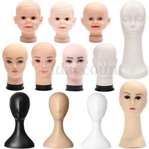 Female-Male-Child-Plastic-Mannequin-Head-Model-Foam-Hair-Glasses-Display-Stand