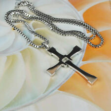 New Gift Unisex's Men's Cool Mens Pendant Cross Necklace Chain