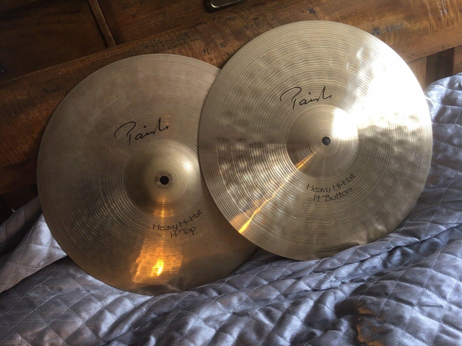 Paiste Signature 14 heavy hi hat cymbals