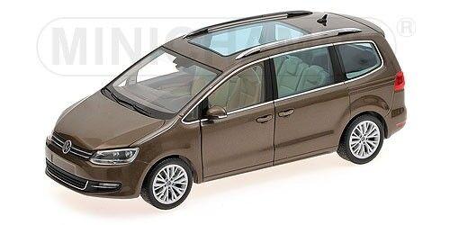 MINICHAMPS 1 18 VW SHARAN - 2010 marron métallique limitée à 504 pcs