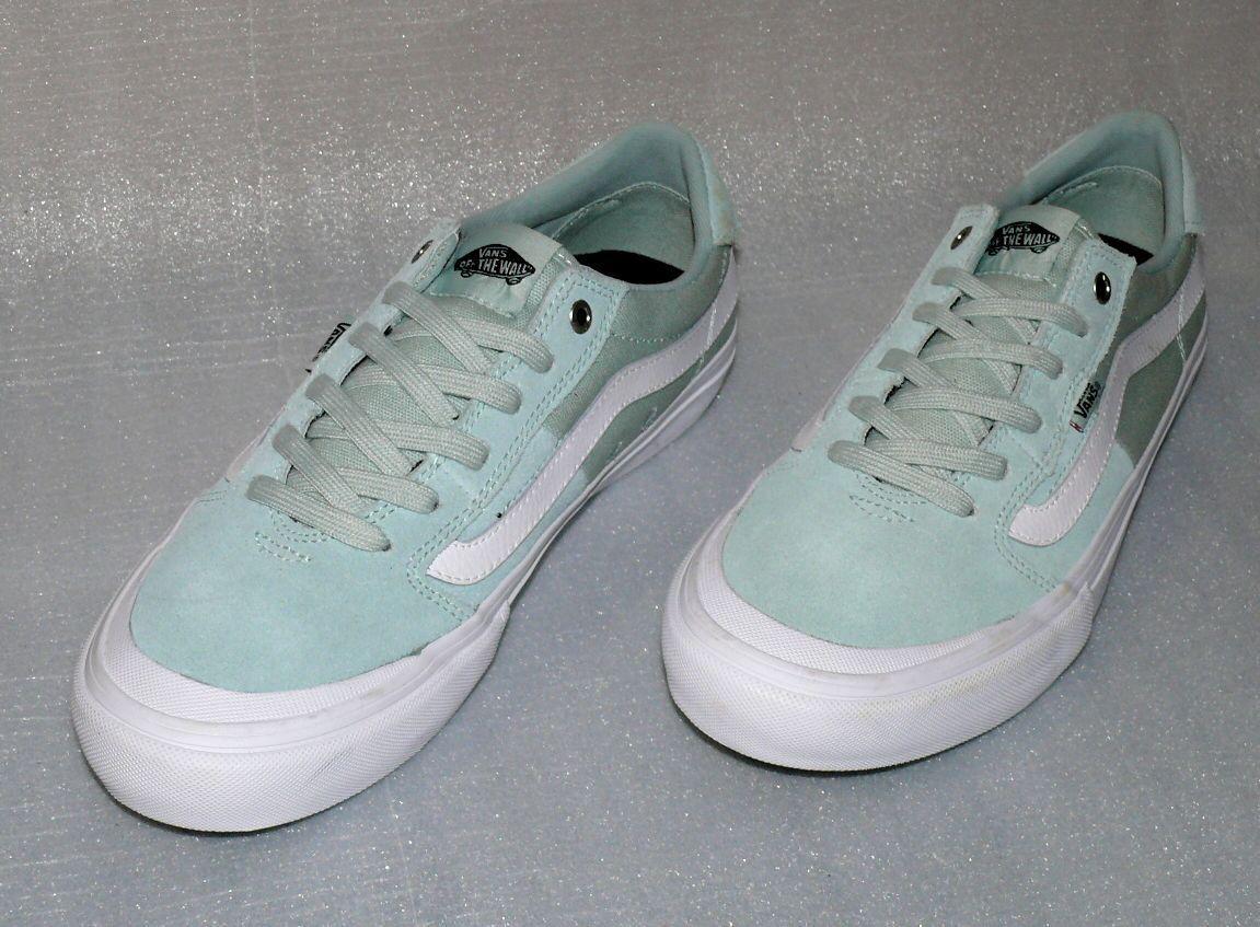 Vans Style 112 Pro Rauleder Herren Schuhe Freizeit Turnschuhe EU 42 US 9 Mint Weiß