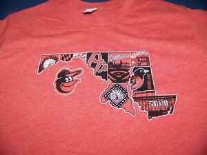 Baltimore-Orioles-SGA-Maryland-State-T-Shirt-Size-X-Large-XL-8-15-18-NEW