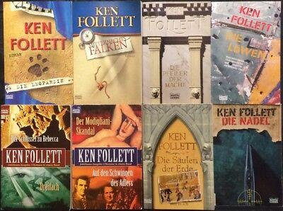 Trendmarkierung Sammlung Paket 17 Romane In 15 Tbs Ken Follett Nadel Leopardin Löwen U.v.a.