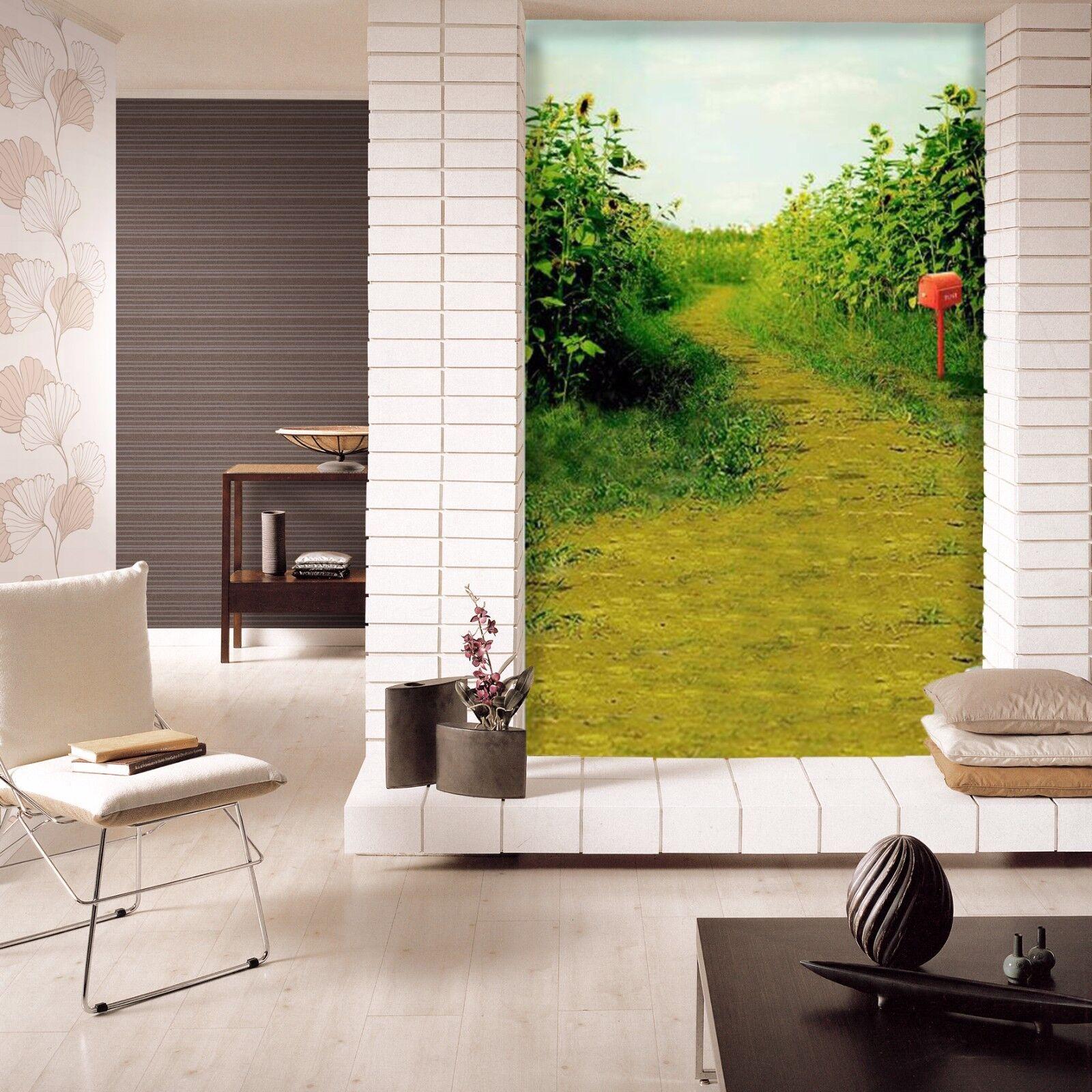 3D Sunflower Field 8 Wall Paper Murals Wall Print Wall Wallpaper Mural AU Summer