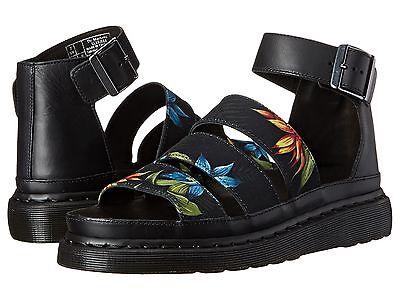 Martens Women`s Clarissa Chunky Strap Sandal Black Hawaiian US 8 EU 39 UK 6 Dr