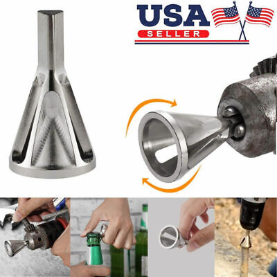 New!Stainless Steel Deburring External Chamfer Tool Drill Bit Remove Burr Silver