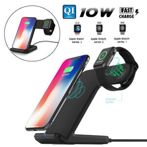 2in1-Qi-Fast-Wireless-Charger-Ladestation-Ladegeraet-fuer-Apple-iWatch-iPhone-X-8