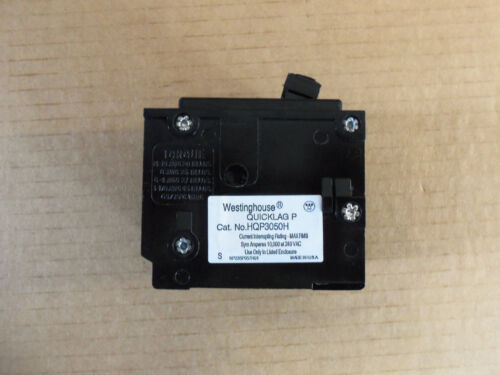 NEW Westinghouse HQP HQP3050H 3 Pole 50 Amp Circuit Breaker