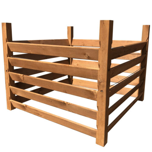 XXL Holzkomposter Kompostsilo Komposter 100x100x80 Gartenabfall komposten