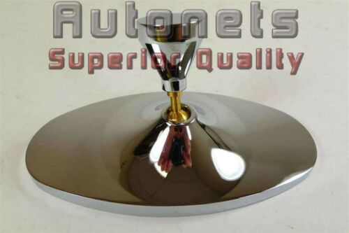 Chrome Billet Aluminum Oval Rear view Interior Mirror Hot Rat Rod Street Chevy