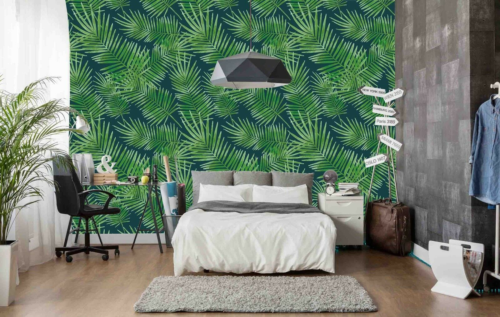 3D Green Tree Leaves 532 Wall Paper Wall Print Decal Deco Indoor Wall Mural CA
