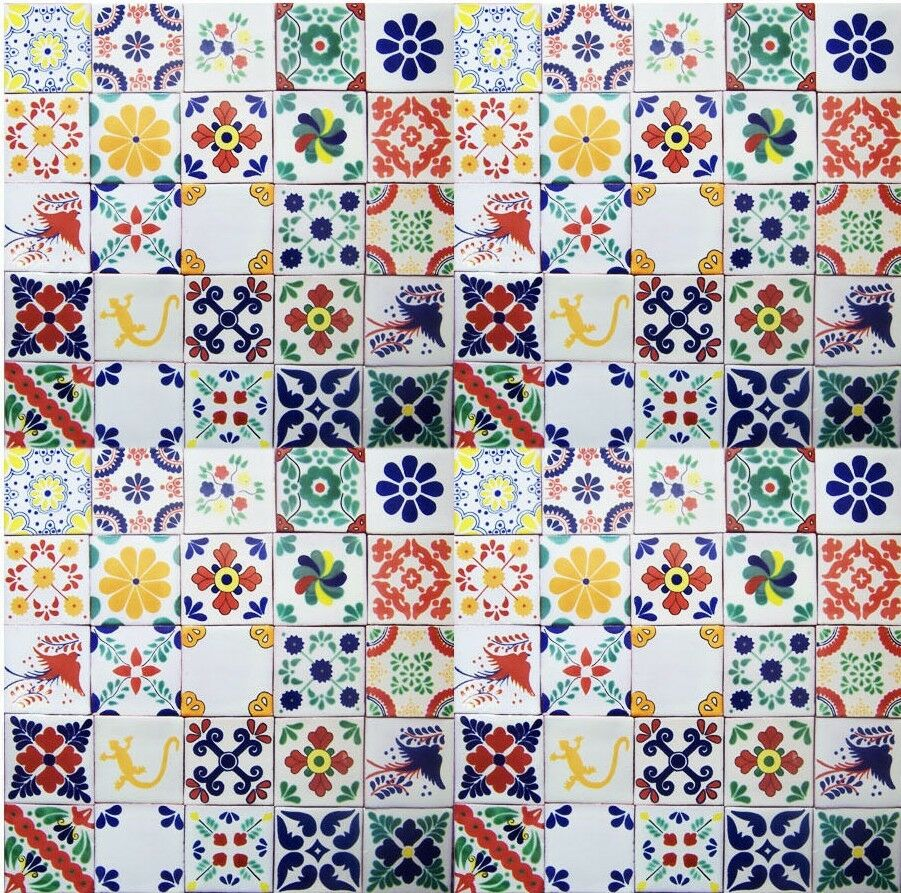 100 Mexican Talavera Ceramic Tiles 4