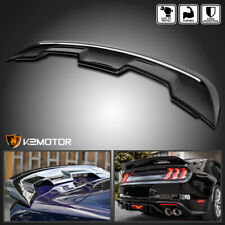Fits 2015 2020 Ford Mustang Gt500 Style Glossy Black Rear Trunk Spoiler Wing Lid Fits Mustang