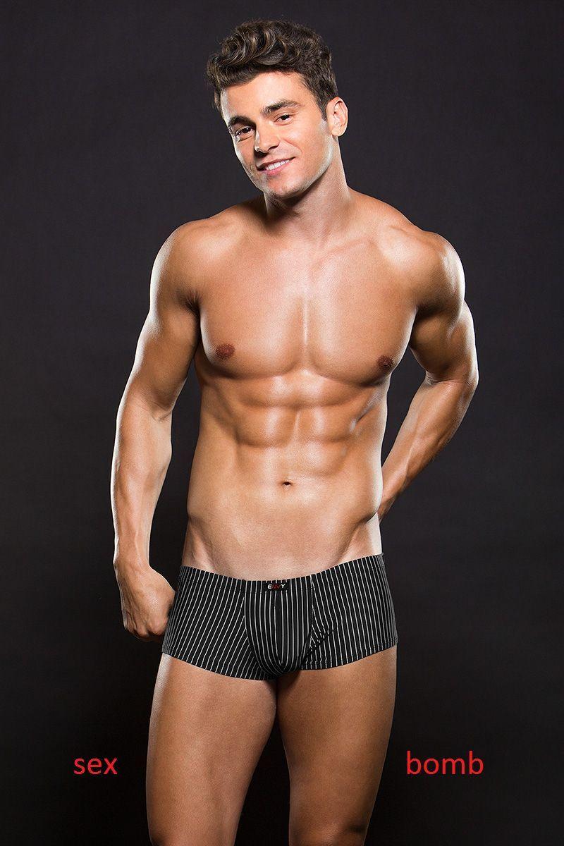Sexy Boxer Schwarze Nadelstreifen Niedrige Größe Lingerie Herren Underwear     Charakteristisch    Ideales Geschenk für alle Gelegenheiten    Deutschland Shops    Angemessene Lieferung und pünktliche Lieferung    Berühmter Laden