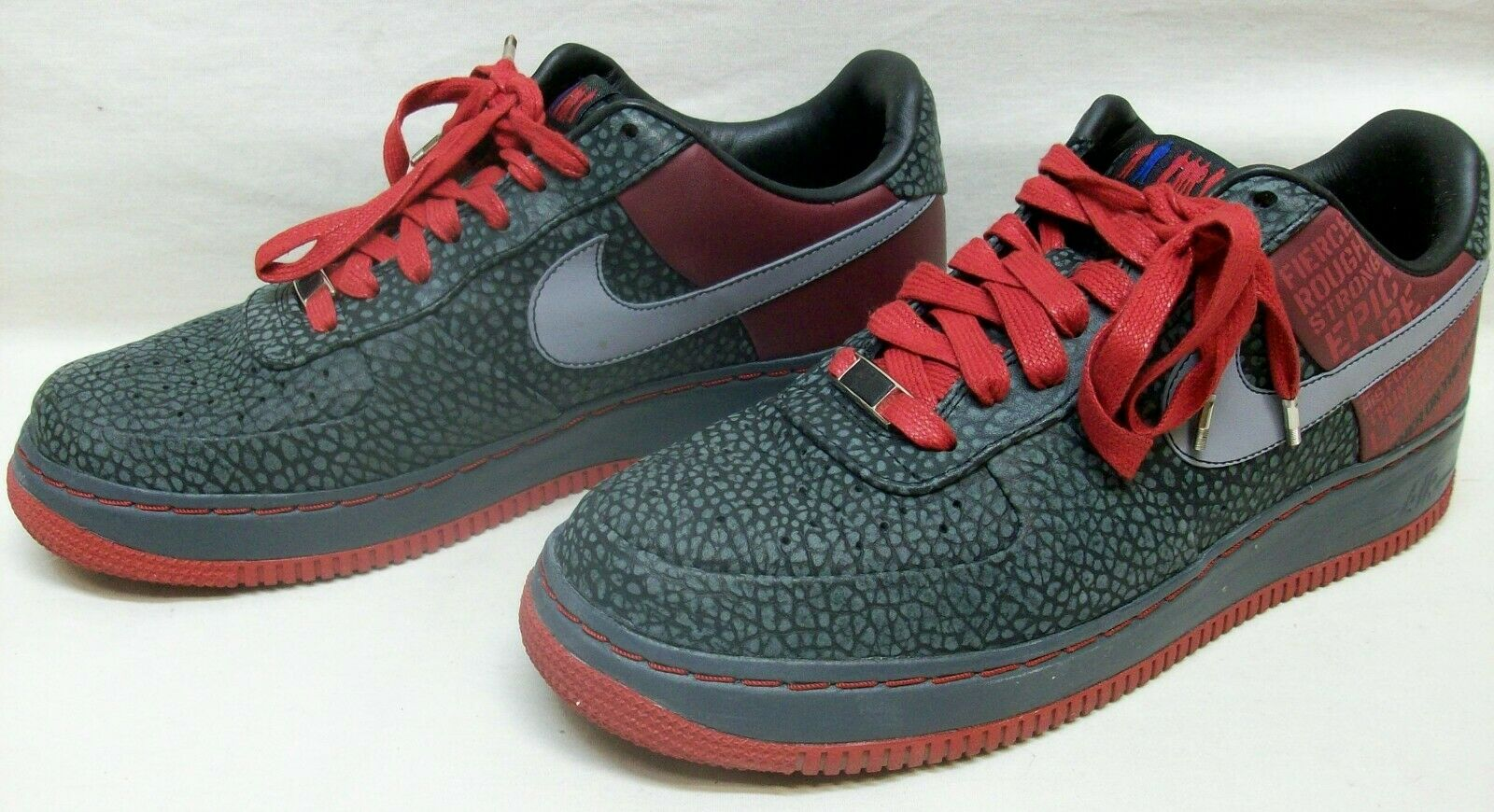 Nike Air Force 1 Supreme '07 (Malone) Size 10 Sneakers  Original Six  EXL Cond
