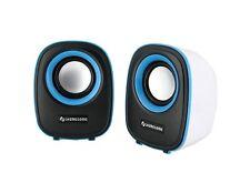 2x2.5W Portable Stereo Speaker Blue PC Computer Laptop USB Mini iPhone