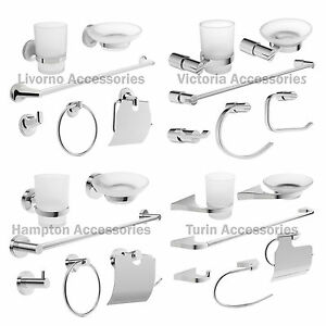 Bathroom Accessories Sets savisto bathroom accessories set toilet roll holder towel rail