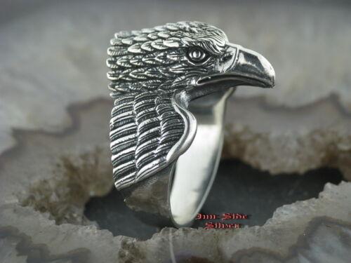 Silberring Gothic ADLER  EAGLE Feingehalt Silber 925 Adlerring Eaglering