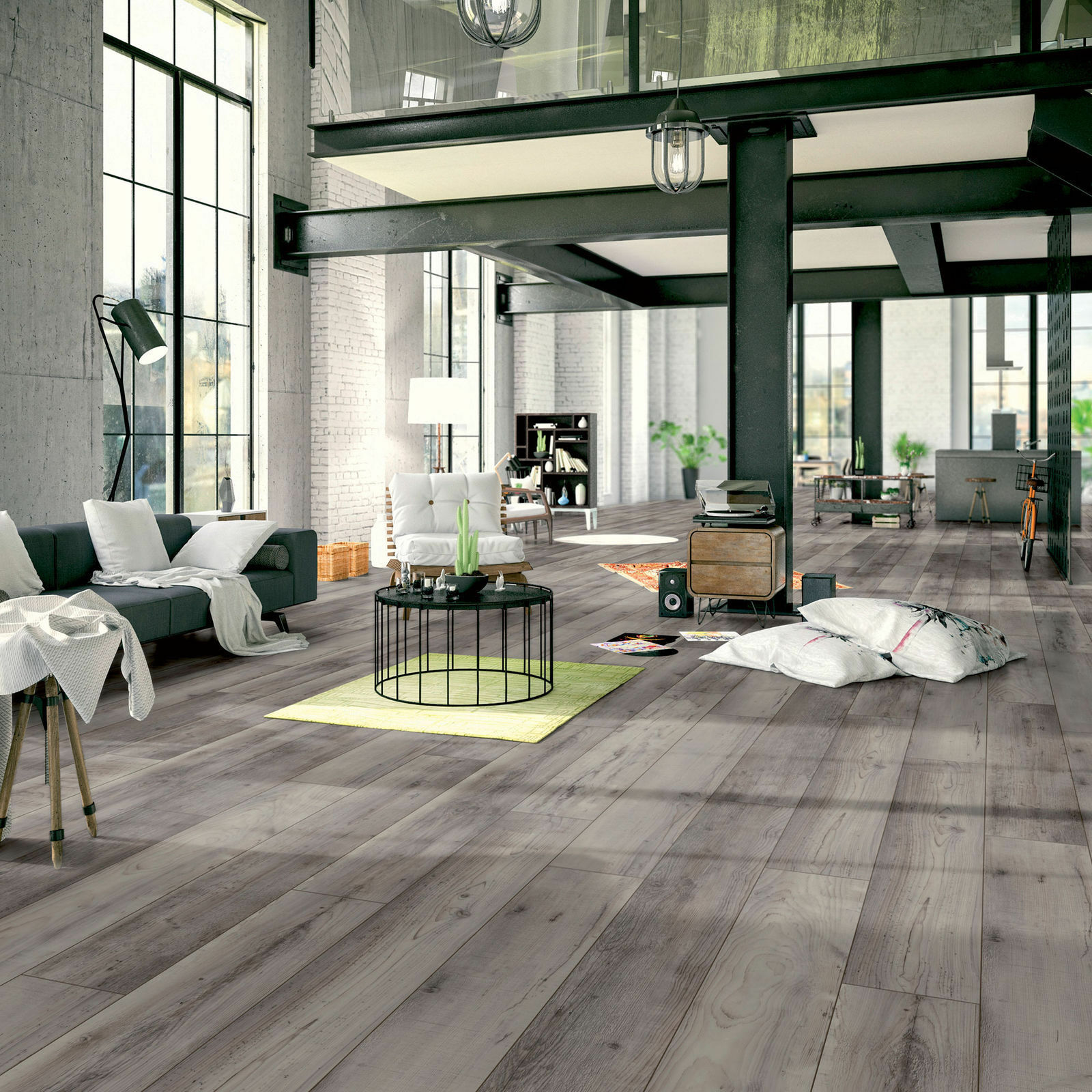 12mm Laminate Flooring KronoSwiss Minto Pine Textured Finish