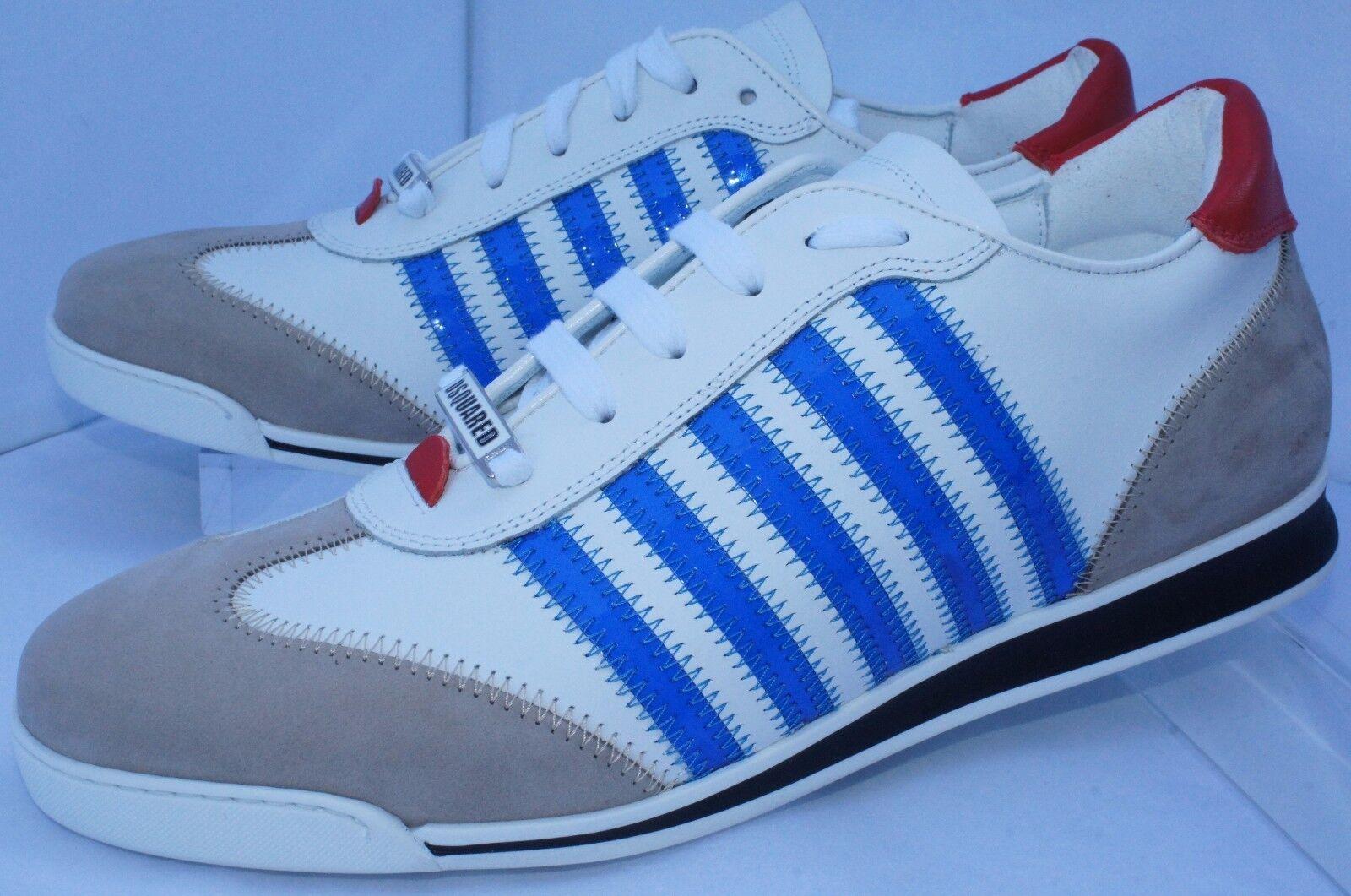 New Dsquarosso2 Uomo Tennis scarpe bianca bianca bianca scarpe da ginnastica Dimensione 43 New Runnr Vitello Fashion f0dcc2