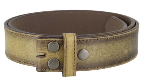 """TAN Vintage Distressed Style Genuine Leather Casual Belt Strap 1-1//2/"""" Wide"""