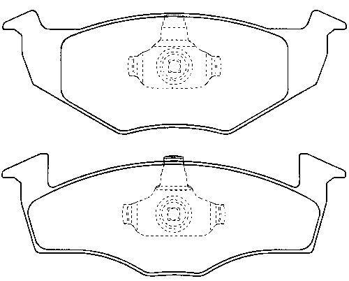 Skoda Fabia 00-10 Front Brake Pad Set