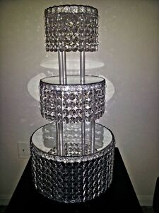 1-METRE-CRYSTAL-CLEAR-GARLAND-WEDDING-CAKE-STAND-DECORATIONS