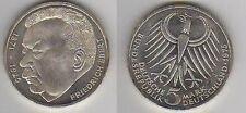 Año 1975. 5 Marcos. Plata. Conmemorativa. Peso 11,20 Ley 625 /1000.