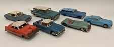 Lot of 7 Vintage Tin Friction Toy Cars Parts Repair Bandai Japan Triumph Corvair