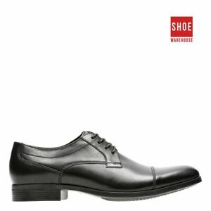 Clarks CONWELL CAP Black Mens Lace-up Dress/Formal Leather Shoes